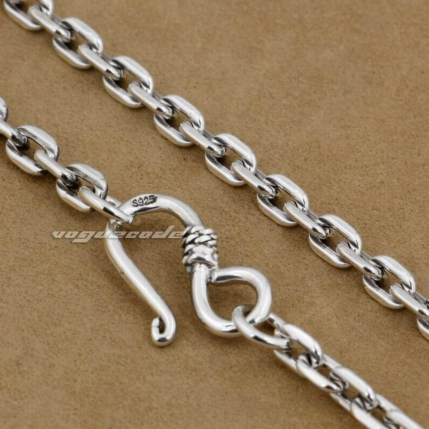 4mm Square link Chain 925 Sterling Silver Pendant Matching Necklace 8L010