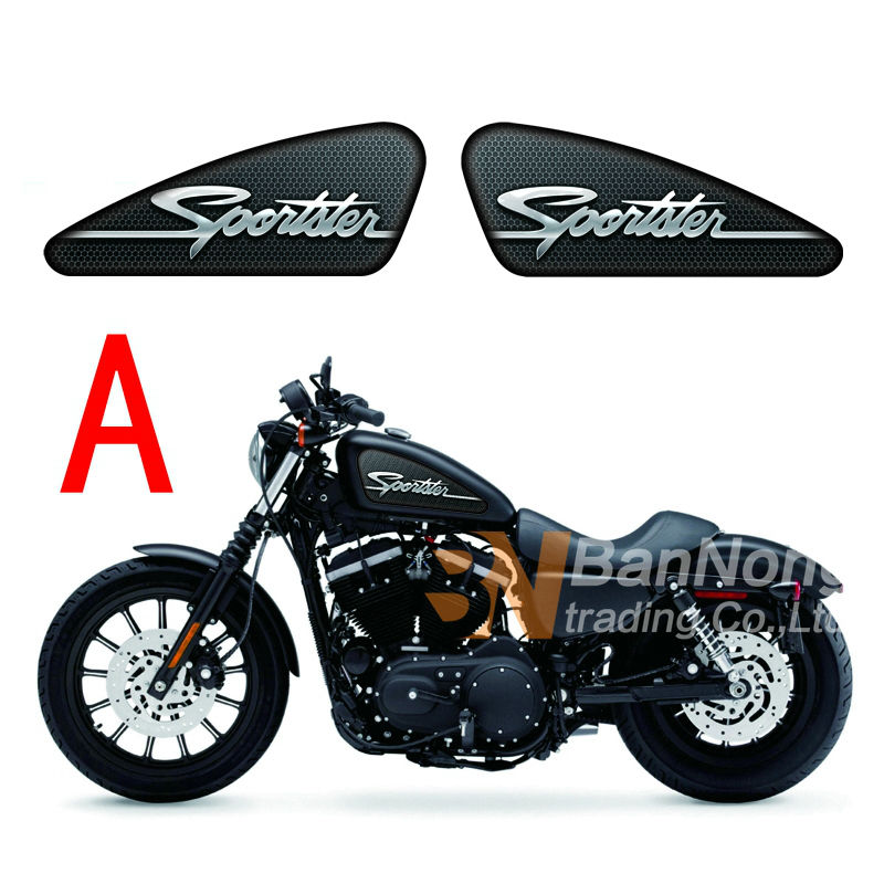 US $17 86 5% OFF|Free shipping Motorcycle Fuel Tank Decals Stickers For  Harley Sporters XL 883 XL 1200 X/V/R/N/L/C XR1200 48 72 IRON-in Decals &