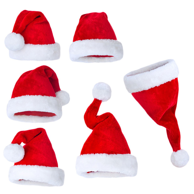 ef6b558a2afbf New years Cap Christmas Party Santa Hats Red And White Cap Christmas Hat  For Santa Claus Costume XMas Decoration for Kid s adult