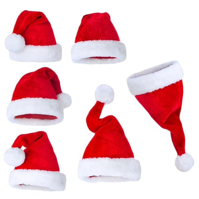 Sombrero de navidad para fiesta de navidad con gorro de navidad rojo blanco  para decoración jpg e1b92d00600