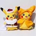 Nuevo Pokemon Pikachu de la Felpa Muñeca de Juguete 30 cm Pikachu Cosplay Santa Claus Regalo de Navidad Suave Peluche Juguetes De Peluche Con la Etiqueta para niños