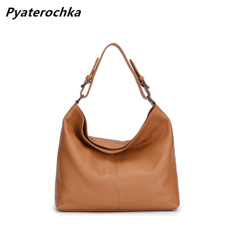 Pyaterochka Women Real Leather Handbags Vintage Retro Bag Female Casual Tote Luxury Shoulder Bags Famous Brand 2018 High Quality famous brand women real leather single shoulder bag high quality fashion female chain bags 2018 luxury diagonal cross package