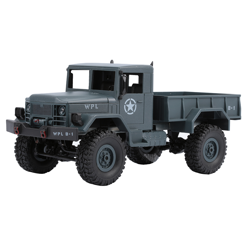 WPLB-14 25km/h 2.4Ghz 4-CH 1:16 4WD Full Function Remote Control USA Military RC Truck Shock Absorbers