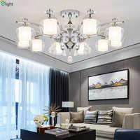 Moderne Glanz Kristall Führte Kronleuchter Beleuchtung Chrome Metall Wohnzimmer Led Anhänger Kronleuchter Lichter Esszimmer Hängen Lampe