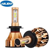 ASLENT 2PCS H7 LED H4 H11 9005 9006 9007 HB3 HB4 AUTO Bulbs led Lens Lamp for Car Headlight Fog Light 80W 8000LM 6500K 12V 24V