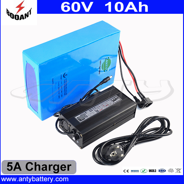 1000W 60V 10Ah Electric Bicycle Battery Built-in 30A BMS With 5A Charger Lithium Rechargeable Battery Pack 60V Free Shipping free customs taxes and shipping 60 volt 3000w rechargeable 60v 25ah lithium ion battery pack with bms and charger