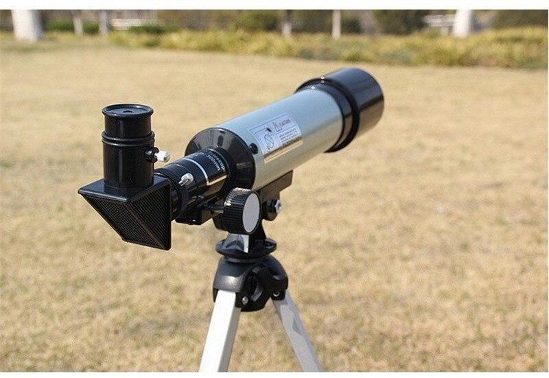 En plein air de Réfraction Astronomique Télescope avec Portable Trépied HD Monoculaire Spotting Scope 360/50mm Télescope Cadeau de Nouvel An