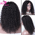 New! Short Kinky Curly Lace Front Wigs Human Hair Virgin Peruvian Curly Lace Front Wig Glueless Afro Kinky Curly Full lace Wigs