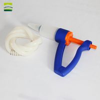 60 ml big suction adjustable continuous feeding injection gun mule, donkey, pig, sheep, cow,horse Drencher Animals andfeed gun