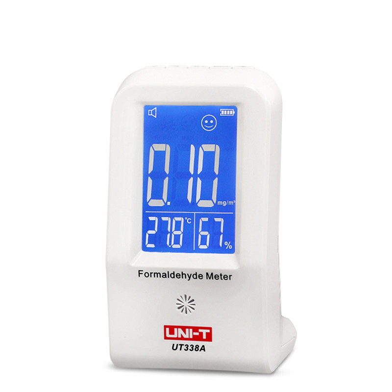 UNI-T UT338A Indoor Formaldehyde Detector LCD Display High Precision Formaldehyde Data Logger Air Monitor Hygrometer Thermomete digital indoor air quality carbon dioxide meter temperature rh humidity twa stel display 99 points made in taiwan co2 monitor