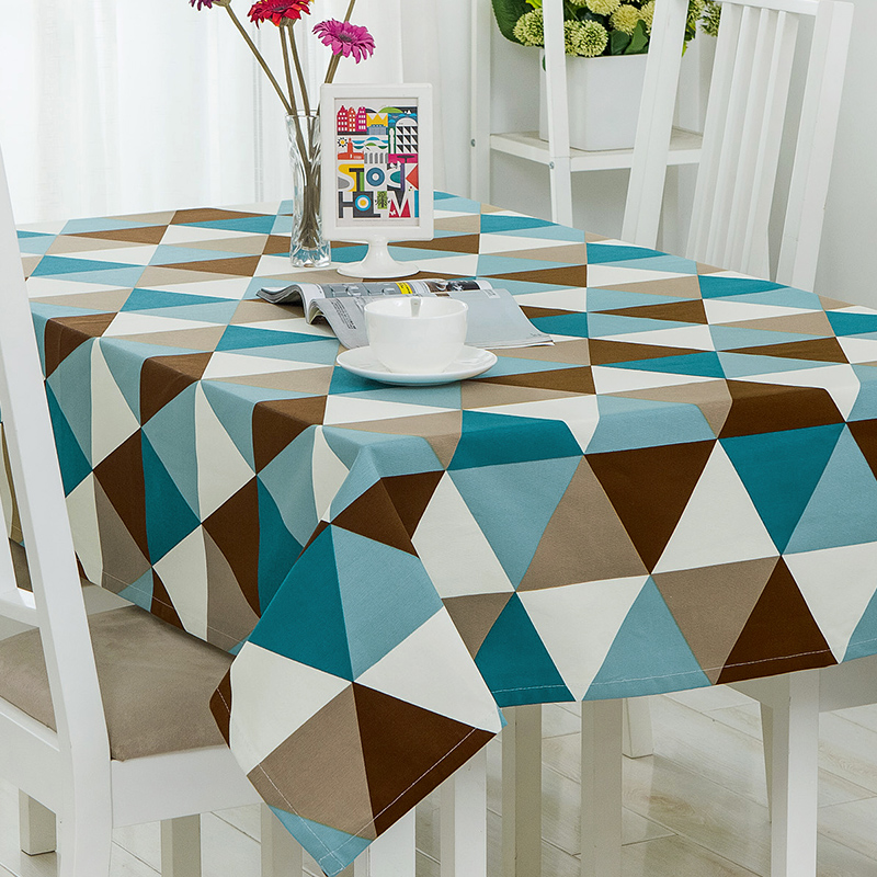 Dark Retro Table Cloth Printed Rectangular Table Cover Home Outdoor Party Banquet Geomet ...
