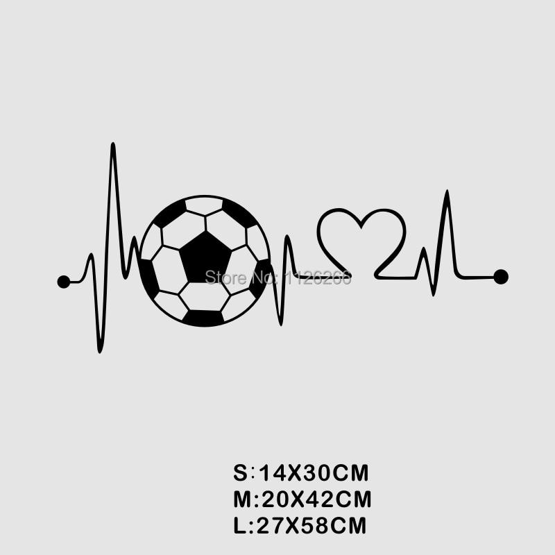 Creative Voetbal Hartslag Muurtattoo Sticker voor Jongens Slaapkamer Deur Home Decor 1