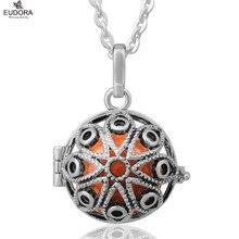 Détail Eudora Antique plaqué argent Harmony Bola qui sonne le carillon pendentif boule collier bijoux pour les femmes enceintes et le bébé cadeau