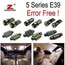 21 шт. светодиодный внутренний светильник комплект+ фонарь освещения номерного знака для BMW E39 5 серии 530d 525d 520d 520i 525i 528i 530i 540i M5 седан(96-03