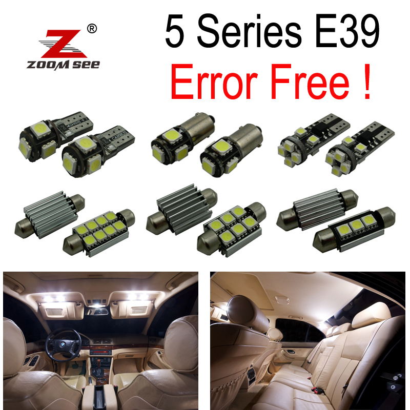 21pcs white for BMW E60 Saloon M5 Full LED Interior Light Kit Error Free