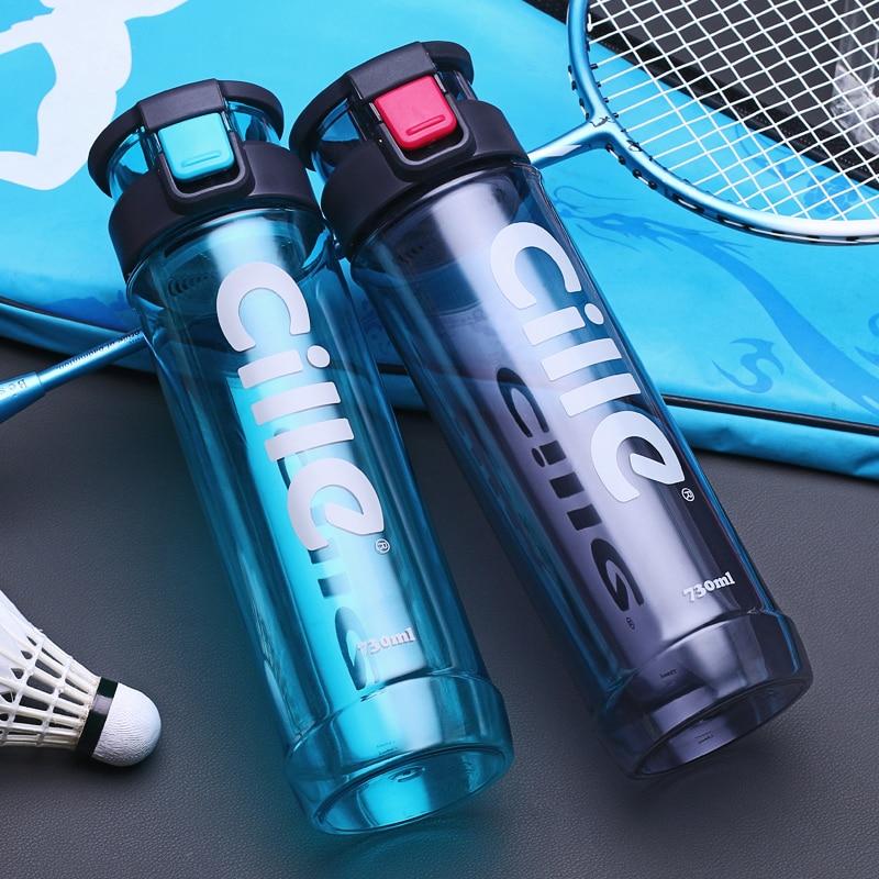 2017 New 730ml Hot Water Bottle Sport Drinking Plastic Water Bottle Bike/Outdoor/Camping Protein Powder Shaker Bottle Gift