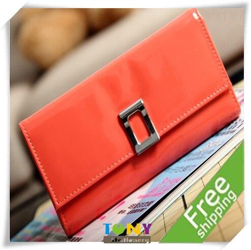 TONY Wholesale 2012 Fashion Women&Lady's Wallet/Bag for Money/Cards Long Size 9Colors 19.2*10*2.5cm 3pcs/lot JA019 Free Shipping