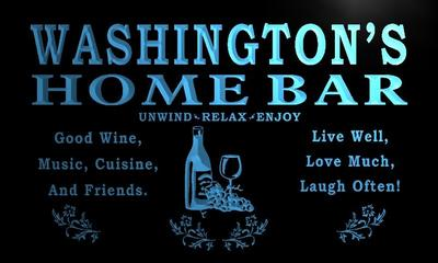 x1090-tm Washingtons Home Bar Wine Cave Custom Personalized Name Neon Sign Wholesale Dropshipping On/Off Switch 7 Colors DHL