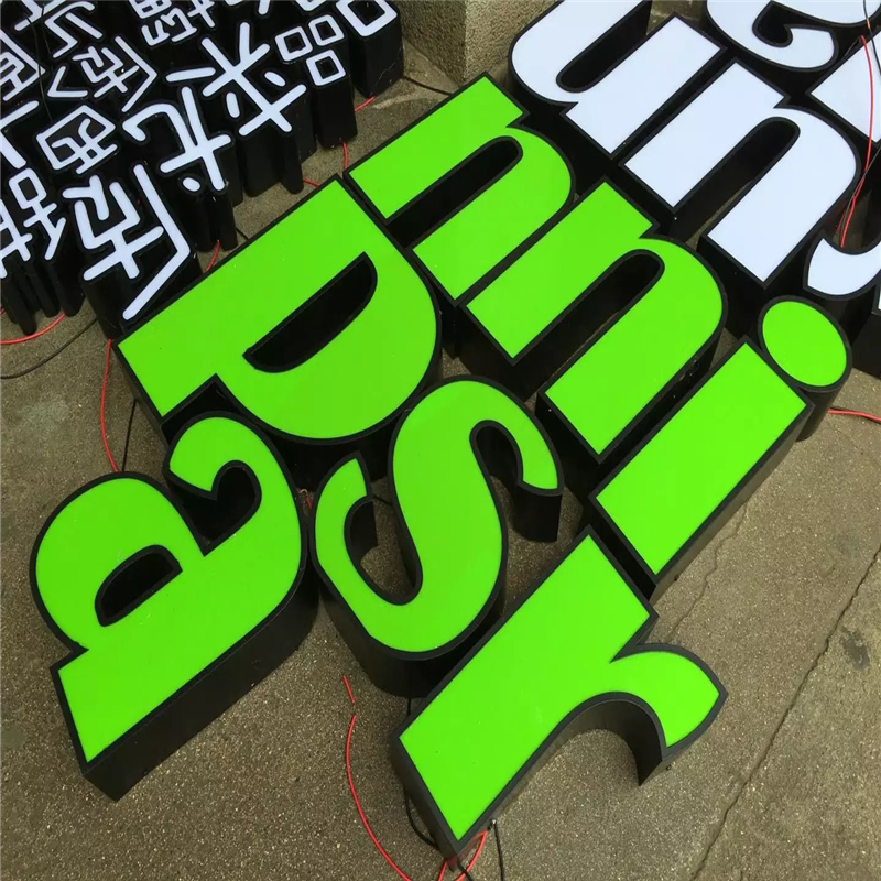 Factoy Outlet Outdoor Acrylic LED Lighted Sign Letters With Super High Brightness