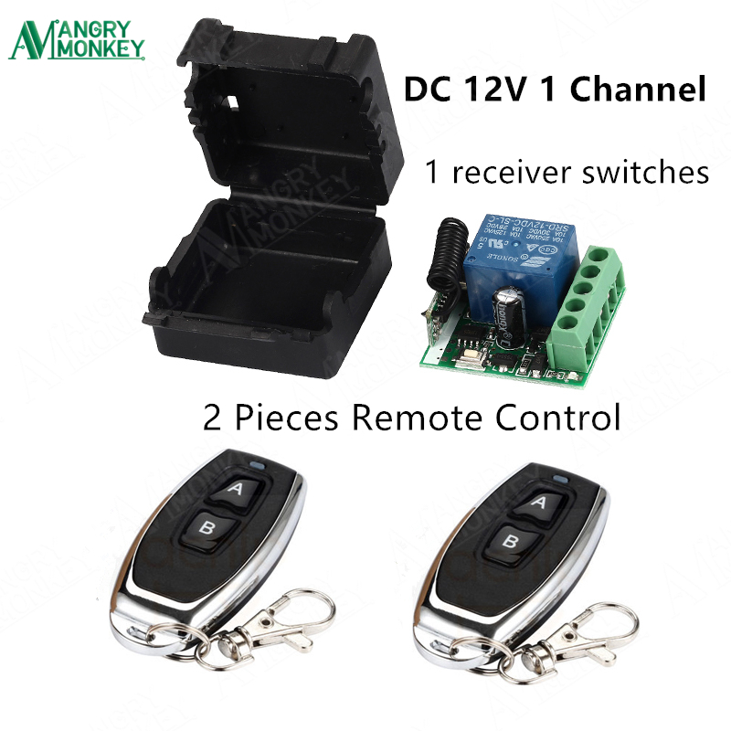 433Mhz Universal Wireless Remote Control Switch DC 12V 1CH relay Receiver Module and 2pcs RF Transmitter 433 Mhz Remote Controls wireless pager system 433 92mhz wireless restaurant table buzzer with monitor and watch receiver 3 display 42 call button