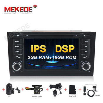 MEKEDE Car DVD Player GPS Two Din Android 9.0 DVD Automotivo For Audi/A6/S6/RS6 Radio FM Quad Cores RAM 2GB ROM 16GB DSP