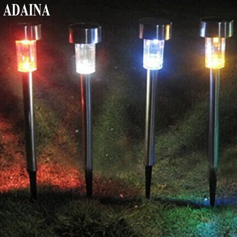RGB Emitting 10PCS/Lot Waterproof IP65 Garden Led Solar