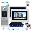 7 ''WIFI IP Video Tür Sprechanlage Tür Glocke Gebäude Security Access Control System Touchscreen Passwort/für 2 haushalte|Videosprechanlage|   -