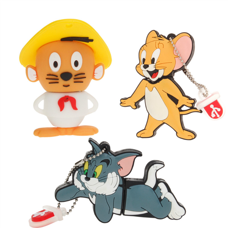 Classic Usb Flash Drive 32gb 64gb 128gb Tom And Jerry Pen Drive 4gb 8gb 16gb Lovely Pendrive USB 2.0 Flash Disk Free Shipping-in USB Flash Drives from Computer & Office