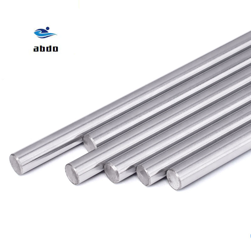 <font><b>8mm</b></font> linear shaft 100 150 200 250 300 350 400 500 600 mm Chromed Hardened <font><b>Rod</b></font> Linear Motion Shaft cnc parts 3d printer parts image