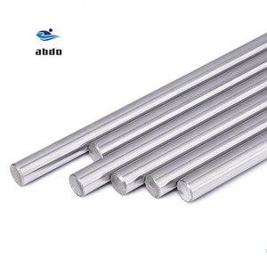 8 мм линейный вал 100 150 200 250 300 350 400 500 600 мм хромированный затвердевший стержень линейный вал движения части ЧПУ детали 3d принтера
