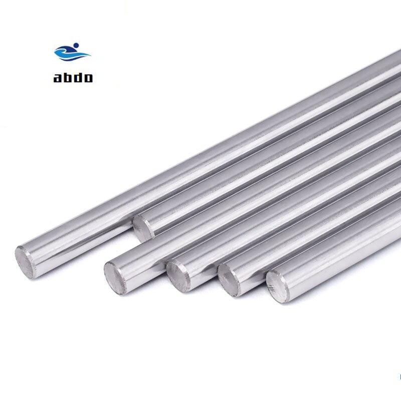 8 мм линейный вал 100 150 200 250 300 350 400 500 мм хромированный закаленный стержень линейный вал движения cnc части для 3D-принтера