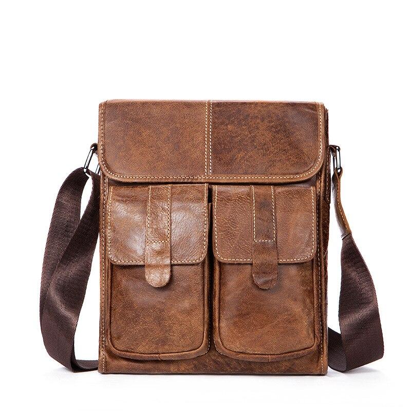 famous brand bag men messengerbags men' s men's one-shoulder bag, shoulder bag, casual, baotou, man bag luggage tag 3