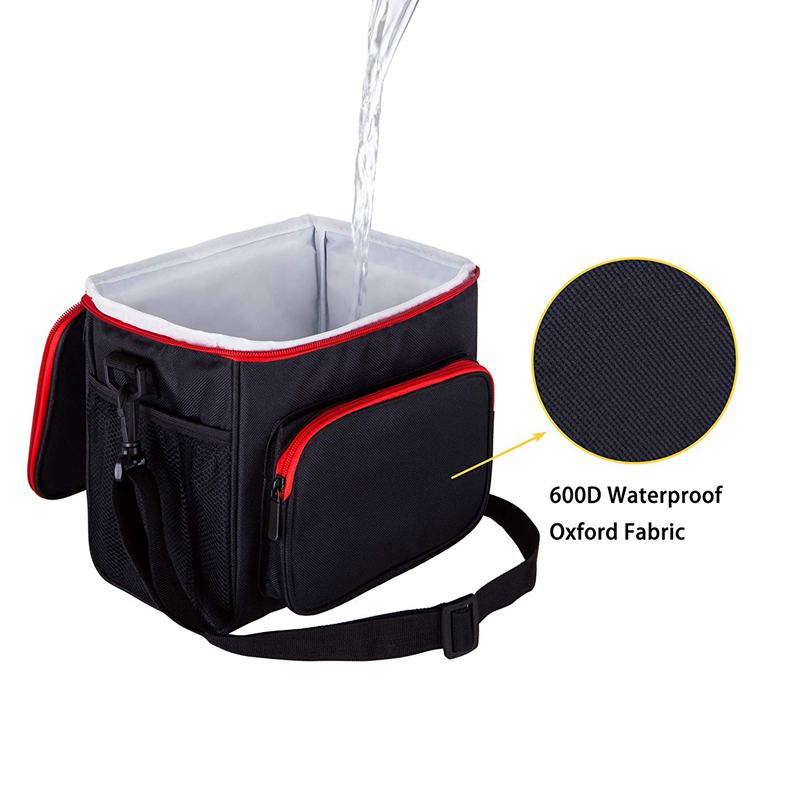 Insulated Lunch Bag For Women Men Cooler Kids Tote Food Picnic Thermal Lunch Box, Black