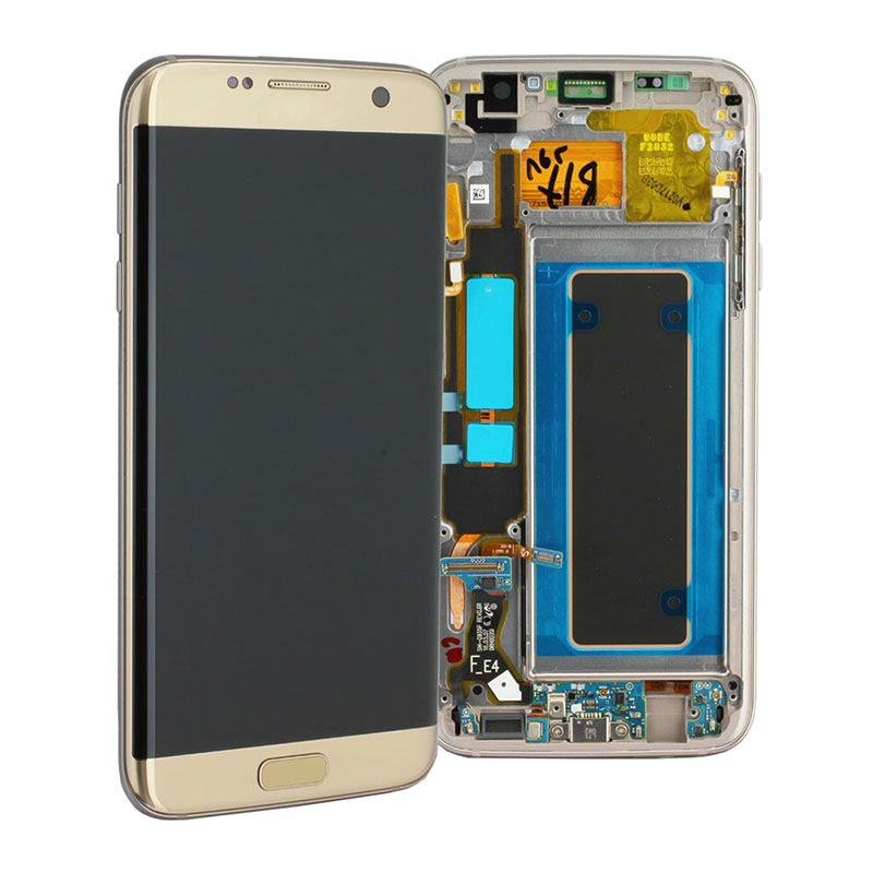 AMOLED S7 edge Display For Samsung Galaxy S7 edge LCD Display Screen Digitizer Assembly with FRAME SM-G935 G935 G935F LCD image