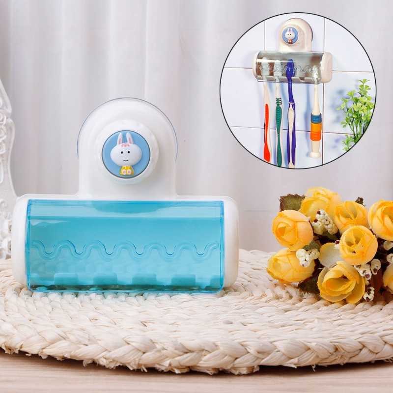 Toothbrush Spin Brush Suction Holder Stand Rack Wall Mount Toothbrushes 5 holder Home Bathroom Storage Organization Shelves Tool