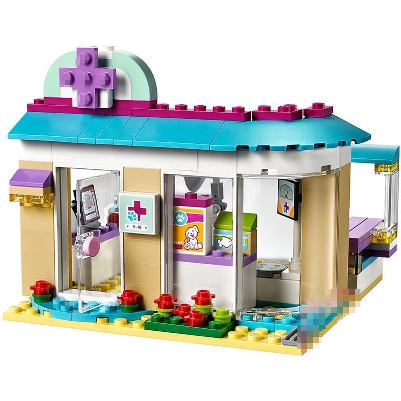 Bela 10537 Friends pet hospital vet Clinic Building Blocks Sets Diy Bricks 41085 Compatible playmobil Educational toys for girls