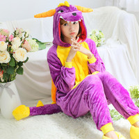 Chinese dragon Animal onesies Pajamas Cartoon costume cosplay Pyjamas Adult Onesies party dress Halloween men and women pajamas