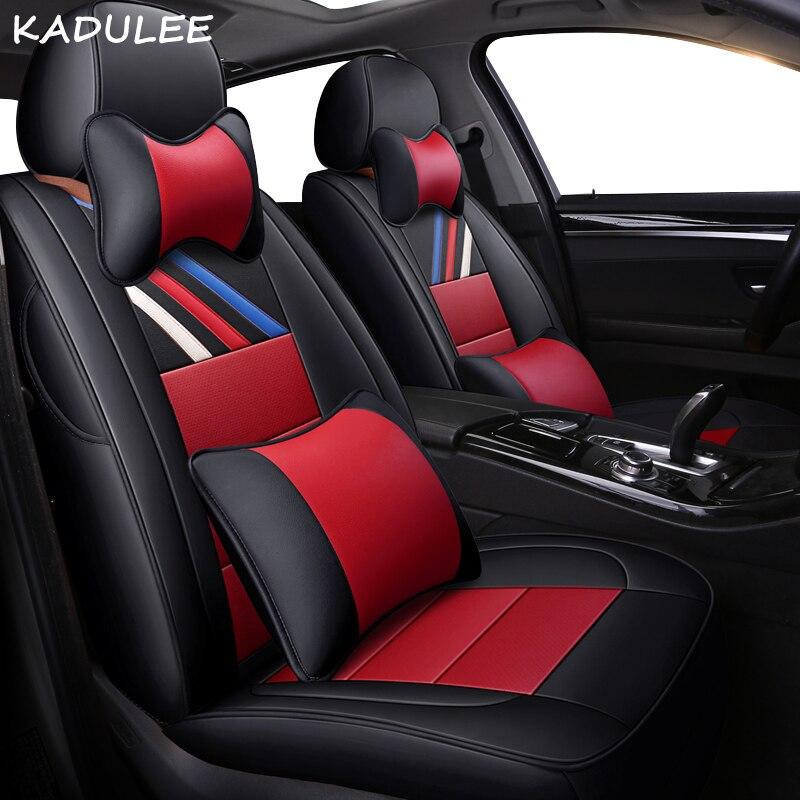 Чехол для автомобильного сиденья KADULEE, из натуральной кожи, для chrysler 300c voyager geely атлас, автомобильные аксессуары, чехлы для автомобильного си