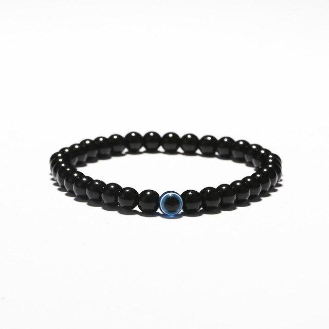 Pulsera turca de moda de 3 tama os con ojos malvados cuentas negras de piedra Natural