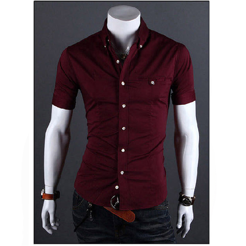 Online Buy Wholesale fitted short sleeve dress shirts from China ...