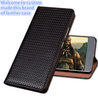 ZD04 Genuine Leather Case for Huawei P Smart Luxury Business Style Flip Stent Cover Bag For Huawei Enjoy 7S Phone Case