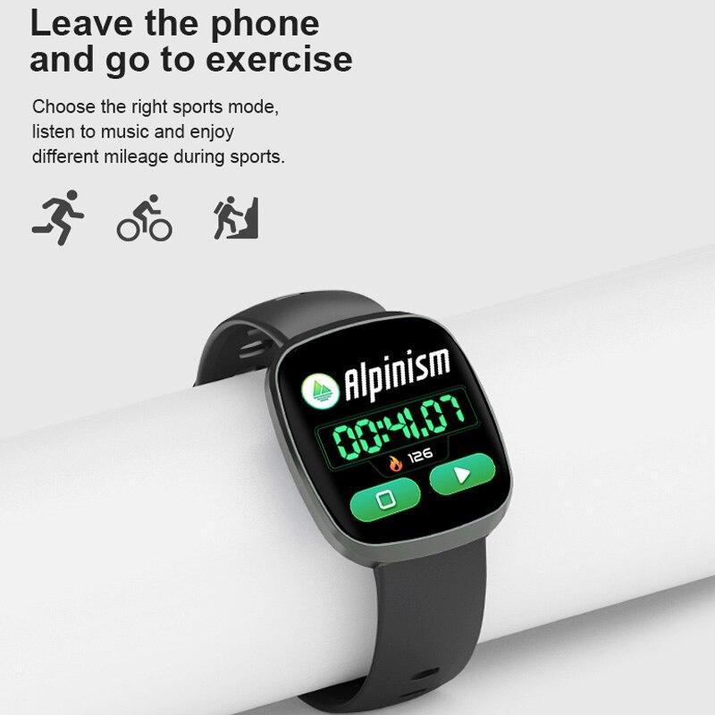 Image 2 - Фитнес трекер Смарт часы сна кровяное давление монитор сердечного ритма управление музыкой водонепроницаемые спортивные наручные часы для IOS Android-in Смарт-часы from Бытовая электроника
