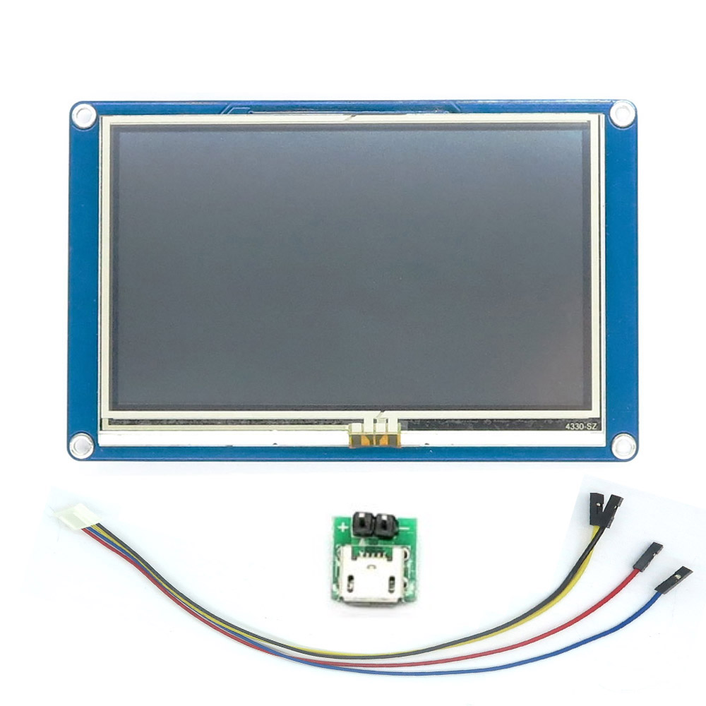 RCmall Nextion 4 3 HMI Intelligent LCD Module Display for Arduino Raspberry Pi ESP8266 FZ1719 DIY