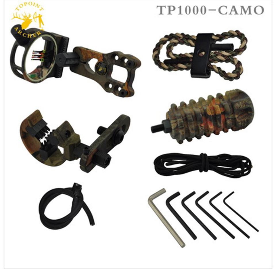 Topoint  TP1000 Archery Upgrade Combo Bow Sight Kits Arrow Rest Stabilizer For Hunting Recurve/Compound Bow Accessories