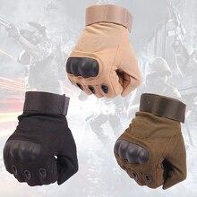 Армия США Тактические Перчатки Спорт На Открытом Воздухе Полный Finger Combat Мотоцикл скольжению Волокна Панцирь черепахи Военный Велоспорт Варежки