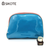 SIKOTE Cosmetic Bag Women Travel Makeup Cases Pouch Toiletry PU Waterproof Female Solid Case Organizer Zipper Make Up Wash Bags