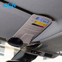 LOEN Multifunction Sun Visor Car Card Package Holder Glasses Storage Pen Organizer Hanging Bag Auto Stowing Tidying Pocket