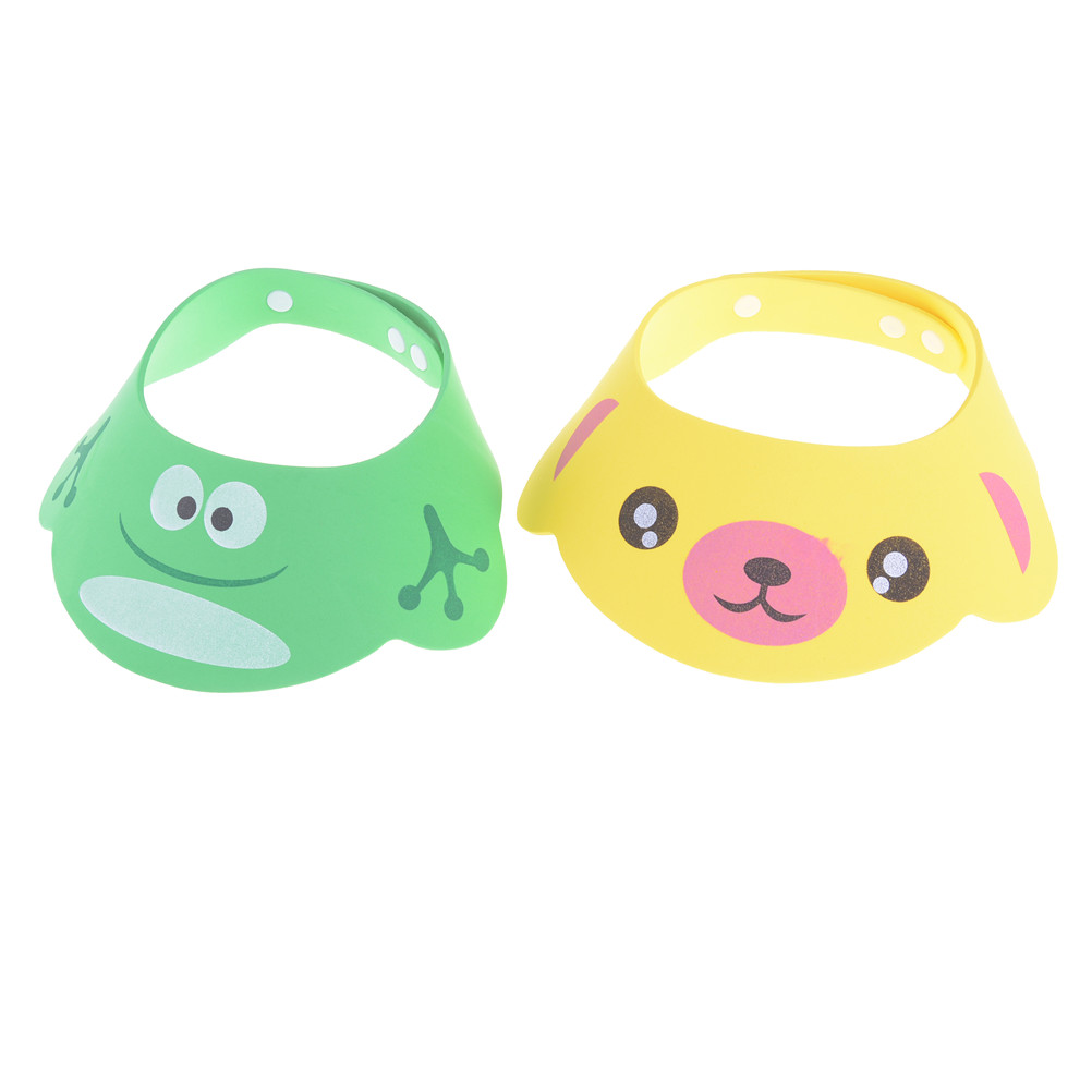 Kids Wash Hair Shield Direct Visor Caps Shampoo Bathing Shower Cap For Baby Care Sweet Lovely Baby Hats