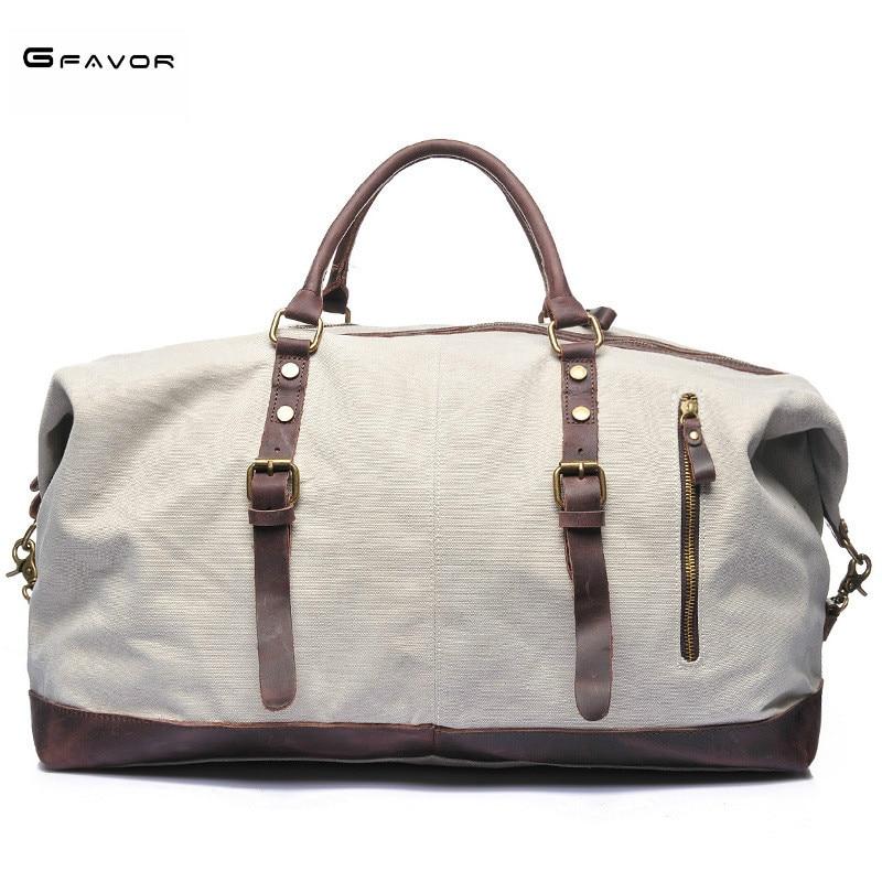 Casual vintage men messenger bag fashion canvas solid unisex large capacity travel tote cross-body classic handbag Weekend Bag