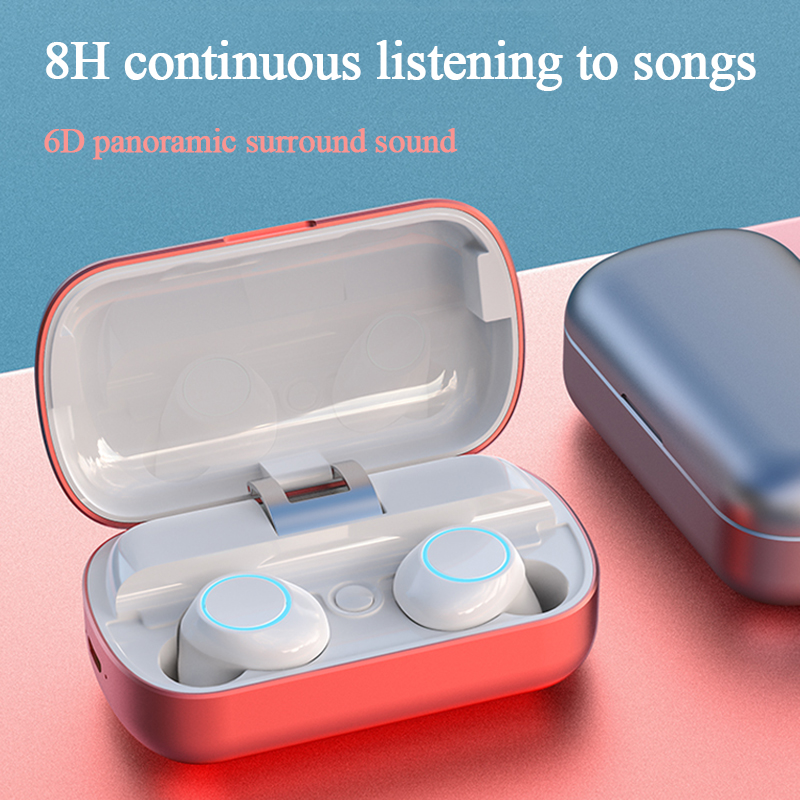 New Bluetooth 5.0 true wireless headset touch-type powerful endurance HIFI full-range dual-channel stereo waterproof headphones